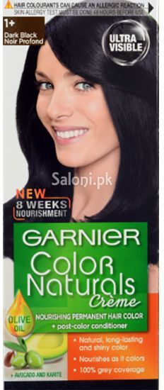 11 >> Garnier Color Naturals Creme Dark Black 1+ | Hair Color | Pinterest | Natural and Hair coloring