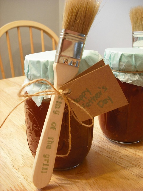 Homemade Father's Day BBQ Sauce by tracy+jake.  Great idea.