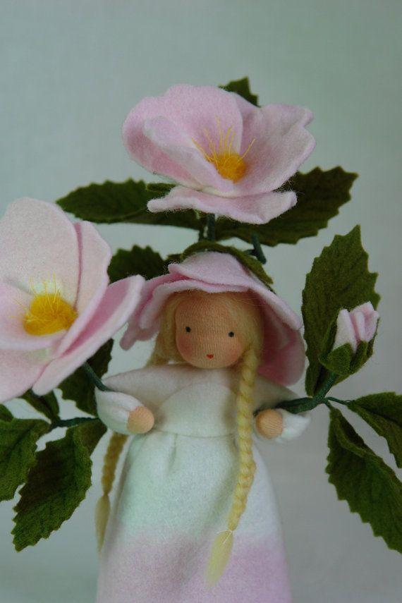 Wild Rose  Flower Child  Waldorf  Inspired  by KatjasFlowerfairys, €38.00