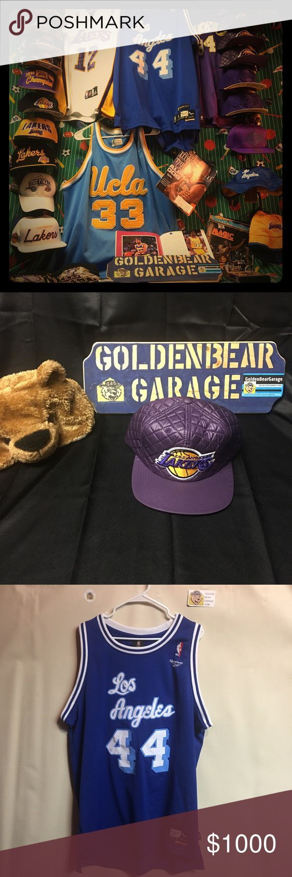 Los Angeles Lakers Hats, Jerseys and Teeshirts GoldenBearGarage Has a Great Selection of Los Angeles Lakers Apparel currently in Stock. All Items shown in Listing are for sale. Please Inquire which item you are interested in and we will make you your own listing. GoldenBearGarage Accessories Hats