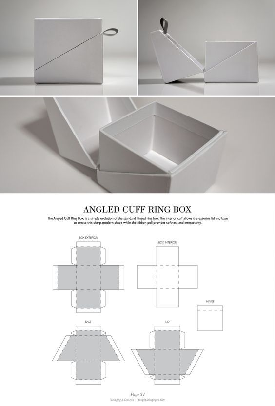 Angled Cuff Ring Box - Packaging & Dielines: The Designer's Book of Packaging Dielines: