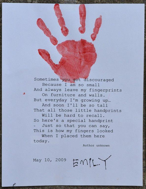 my little handprints poem this handprint poem is an excellent reminder of how quickly. Black Bedroom Furniture Sets. Home Design Ideas
