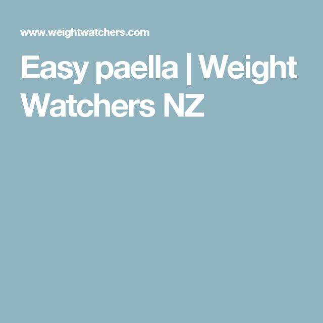 Easy paella | Weight Watchers NZ