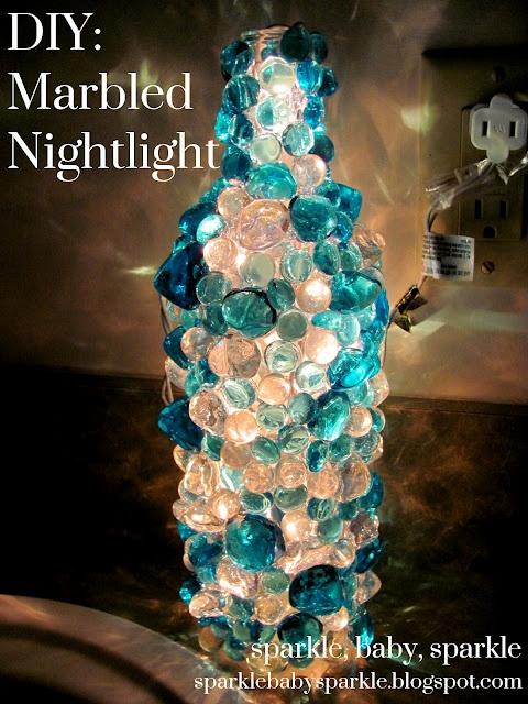 1000 images about diy marbles on pinterest baked for Wine bottle night light diy