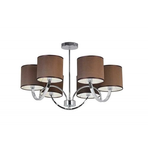 endon lighting 6 light simple multi arm polished chrome pendant endon lighting from the home lighting centre uk