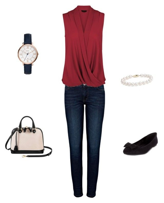 """My stuff"" by traceyposhbird on Polyvore featuring Anine Bing, Aspinal of London, Blue Nile and FOSSIL"