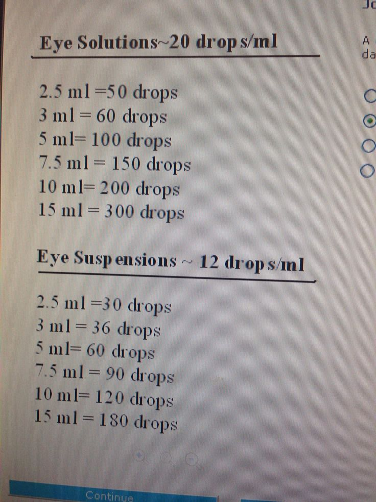 Eye drop calculations ::: ASU-BEEBE ::: www.ASUB.edu ::: @ASUBeebe ::: #ASUBeebe ::: #ProudToBeBlue