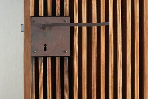 Timber vertical doors and screens