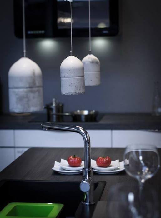 Niesamowite, betonowe lampy #design #srebrnaagrafka (klik w foto po więcej)