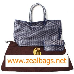 Replica Goyard Saint Louis Tote PM 2376 Dark Blue