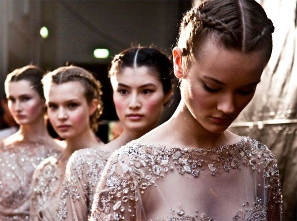 Backstage at Elie Saab Fall Couture 2012