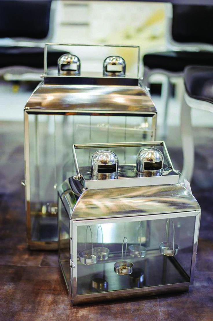 Lanterns #GentleGeometry #GreenApple #GAhomestyle #homestyle #candle #lantern #silver #Inox