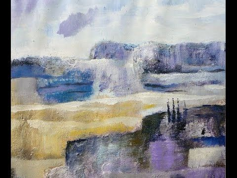 Abstract landscape 3 colors Abstrakte Landschaft 3 Farben - YouTube