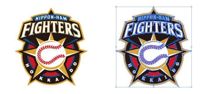北海道日本ハムファイターズ(Hokkaido Nippon-Ham Fighters)のロゴマーク