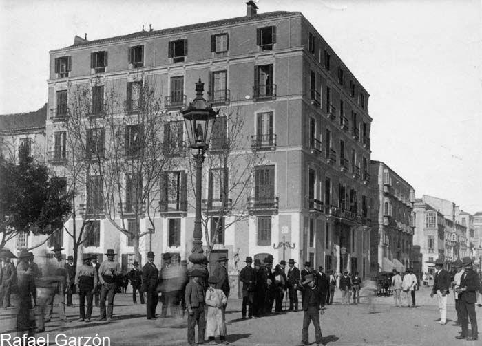 Malaga antigua Old photograph Hotel Roma,fotos, old, century, photos, nineteenth, xix, siglo