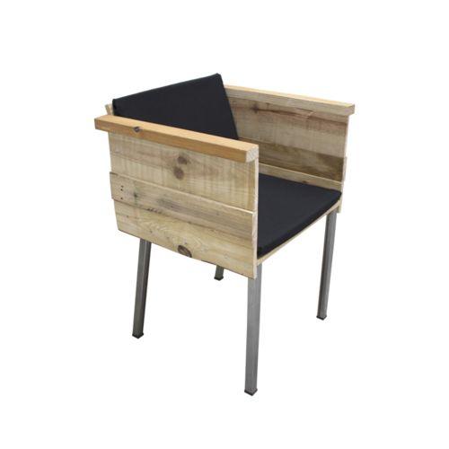 sillón caja visto desde delante