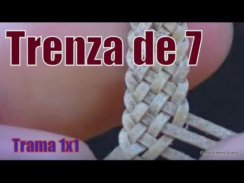 """Trenza de 7 Chata """"El Rincón del Soguero"""" Más"""