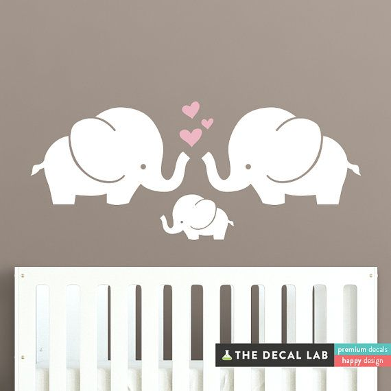 Trunks of Love Wall Decal  They say an elephant never forgets. We don't really know if that's true, but we do know that this elephant wall decal will