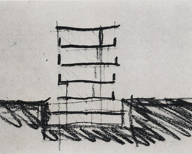 Peter Zumthor: sketch for Kunsthaus Bregenz