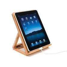 Bamboo iPad Stand Adjustable Portable Tablet Universal Apple I Pad Mini Holder