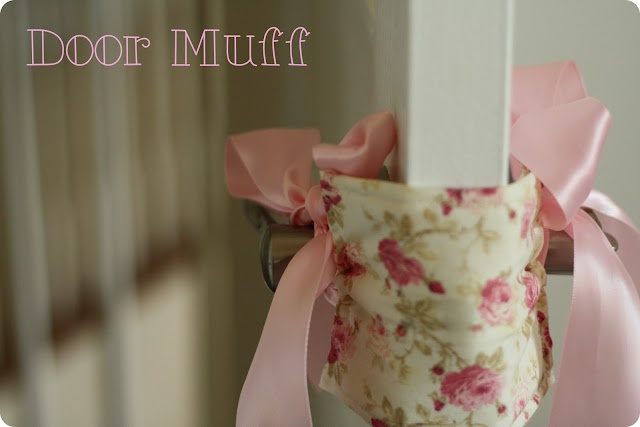 "Tutorial for ""door muff"" or ""door jammer"" I would replace ribbon with elastics"