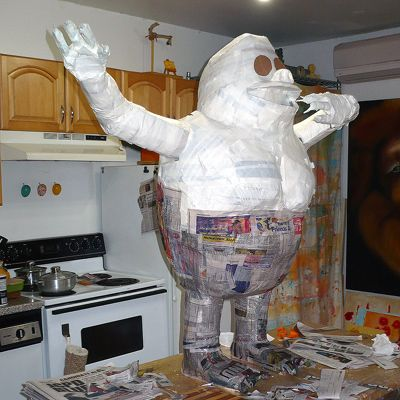 The Papier Mache Resource → Tutorials → Bumble - The Abominable Snowman