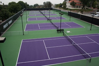 Purple Tennis Courts