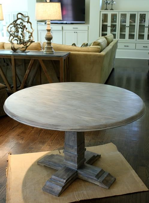 Learn how to paint a table Shabby French gray tutorial and 45 BEST Shabby Lifestyle Decor & Accessory DIY Tutorials EVER!! From MrsPollyRogers.com