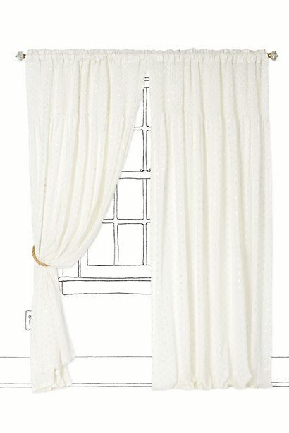 Sterling Dots Curtain - Anthropologie.com