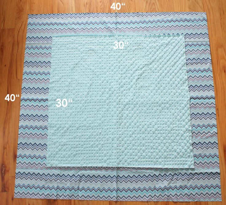 Cuddle Baby or Minky Self-binding receiving blanket