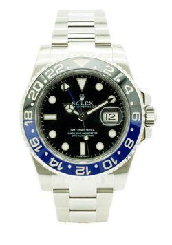 Rolex Oyster Perpetual Date GMT-Master II Watch. 40mm stainless steel case, bidirectional rotatable bezel with 24-hour engraved black and blue Cerachrom insert BOX AND PAPERS DATED DEC/2013 (LNIB) TAX IN