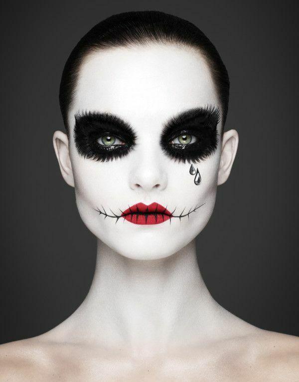 fasching schminken schminktipps in schwarz weiß                                                                                                                                                          (Beauty Day Happy)