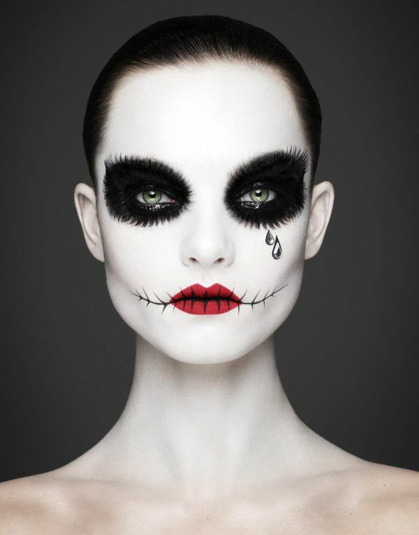 fasching schminken schminktipps in schwarz weiß
