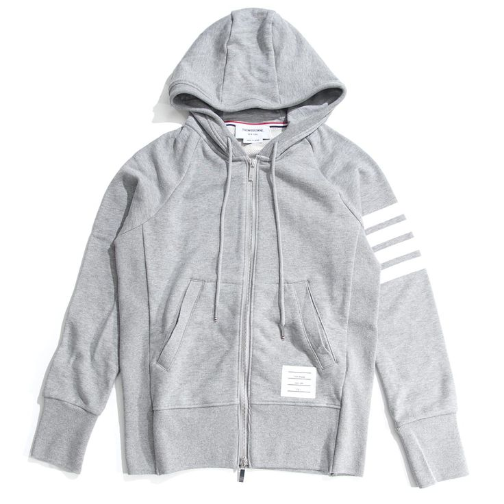 BRANDトムブラウン/THOM BROWNE.  ITEMジップアップパーカ/ZIP UP HOODIE WITH ENGINEERED 4 BAR IN CLASSIC LOOP BACK  Item No.mjt022h-00535-068, mjt022h-00535-461  Colorグレー系 (COL:GRY), ブルー系 (COL:BLU)