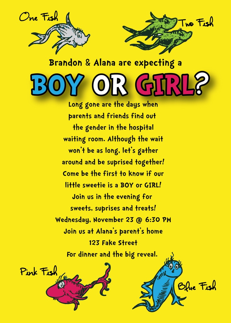 17 Best images about Gender Reveal Party Ideas – Baby Gender Announcement Wording