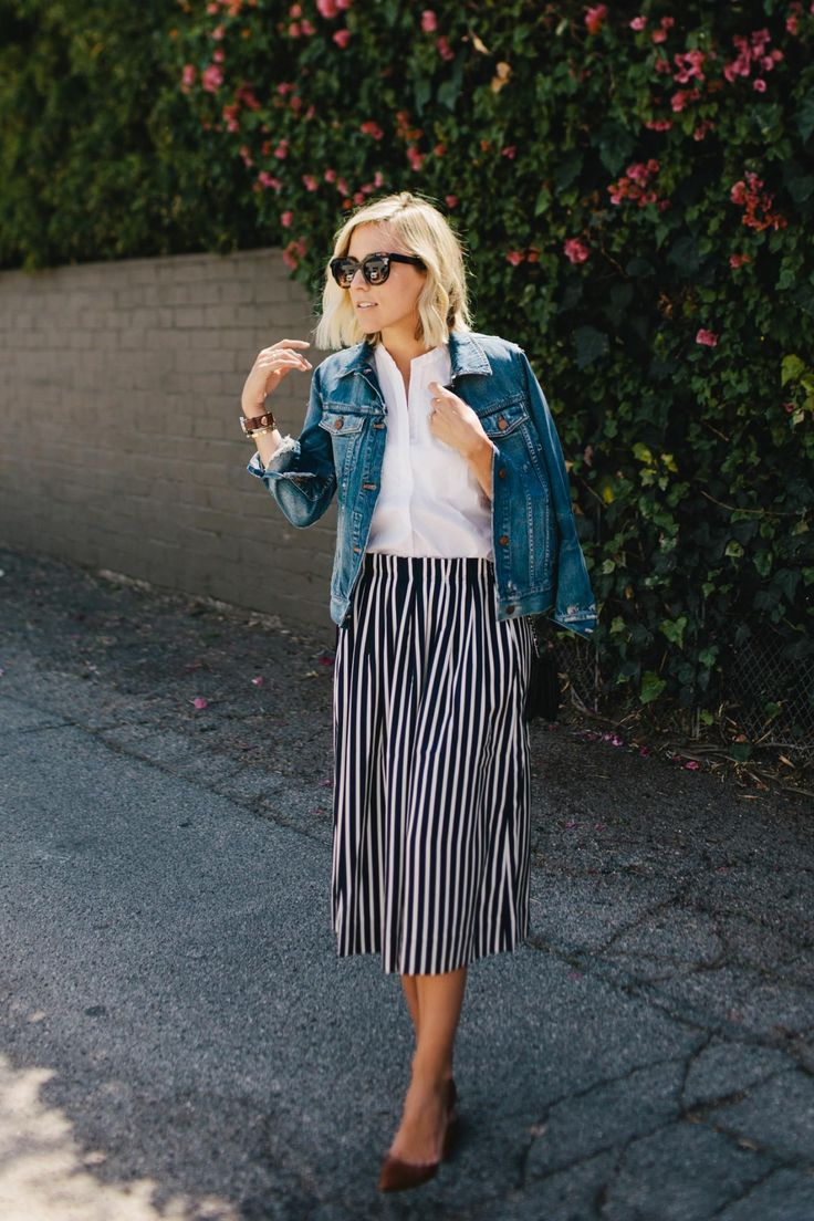 @damselindior | tres chic in stripes & denim