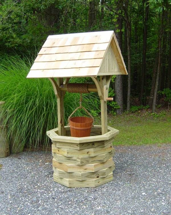 Plans for a magnificent 6 ft. tall wishing well.