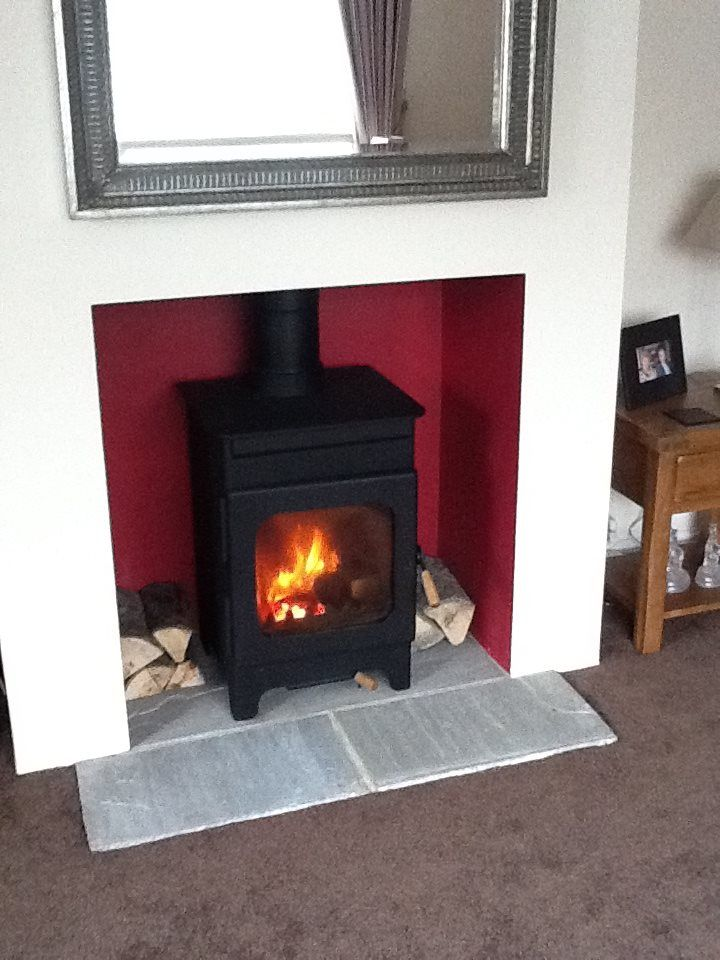 14 best images about log burner on pinterest wood store for Tiled chimney breast images