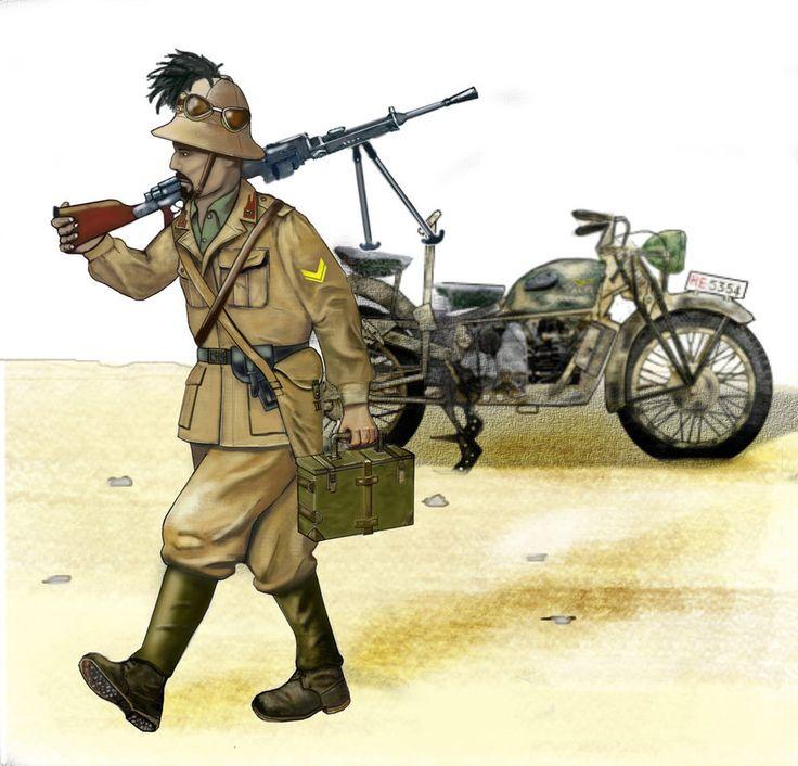 ww2 Sergeant of Bersaglieri - North Africa 1942 by AndreaSilva60