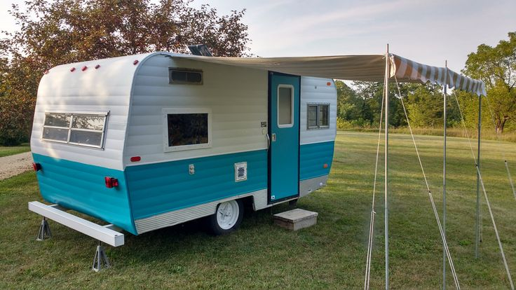 Vintage Camper Trailers For Sale - For Sale in the Midwest Remodeled inside & out; solid &clean. Fresh paint & upholstery,new waterproof vinyl floor.