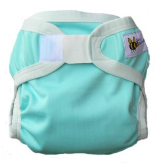 These practical Baby BeeHinds PUL nappy covers are a must have. They are made from 2 layers of polyester knit with a breathable, waterproof coating sandwiched in-between. Allowing moisture from within the nappy to evaporate through the tiny holes in the fabric, this design helps to keep baby cooler and drier than when compared to the traditional 'el cheapo' plastic pants of old. Designed to fit over the Baby BeeHinds Bamboo Fitted Nappies, the Baby BeeHinds Nappy Covers are also suitable…