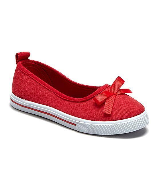Red Bow Slip-On Sneaker