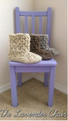 Chunky Slipper Boots  - Free Crochet Pattern -PatternConnection