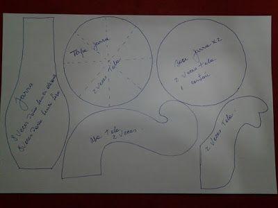 Feltro Fácil: Bule e Xícara de Feltro ou Tecido com Molde