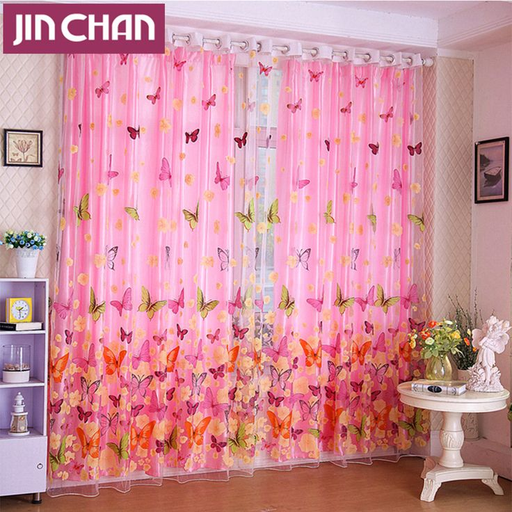 Cheap Curtains For, Buy Quality Blackout Curtains Directly From China  Curtains For Living Room Suppliers: Butterfly Printed Shade Window Blackout  Curtain ...