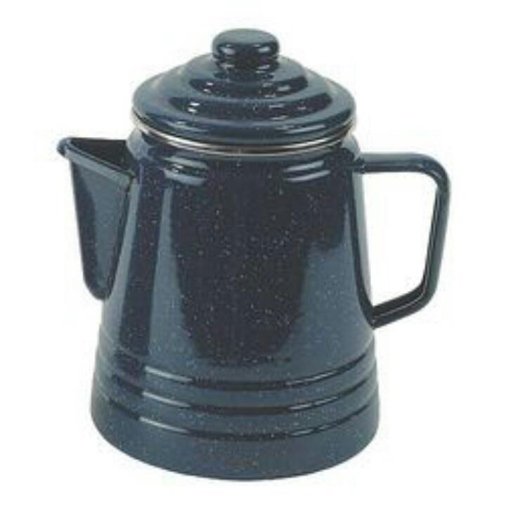 Blue Speckled Grannyware Coffee Pot