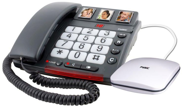Big Button vaste telefoon met fototoetsen en antwoordapparaat | Fysic FX-3500  De Big Button vaste seniorentelefoon van Fysic is ideaal voor slechthorende ouderen. De reden hiervoor is omdat deze telefoon als enige is voorzien van een losse trilplaat. Deze trilplaat of trilmodule trilt wanneer u gebeld wordt. Hierdoor kunt u de telefoon niet alleen horen maar ook voelen. Deze seniorentelefoon is ideaal om naast bijvoorbeeld het bed te zetten. Hiermee kunnen ouderen wakker gebeld worden in…