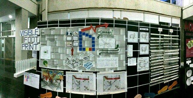 """Layout display """"Visible Foot Print"""" - kelompok 10"""