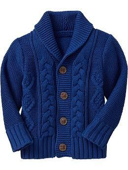 For Kids: Cobalt Cable Knit Sweater: