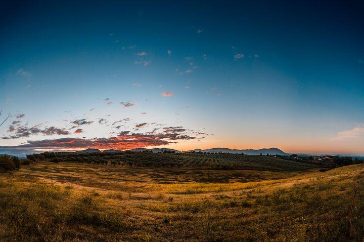 Alba in Sabina ... il risveglio di un nuovo giorno! #photography #landscapes #sunrise